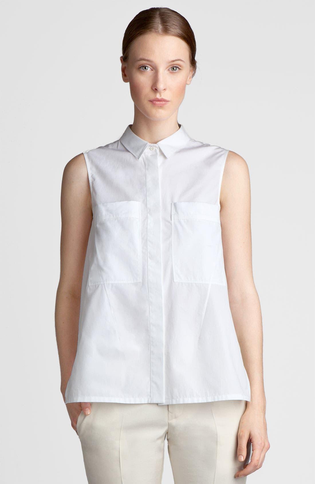 Alternate Image 3  - Jil Sander Sleeveless Poplin Shirt