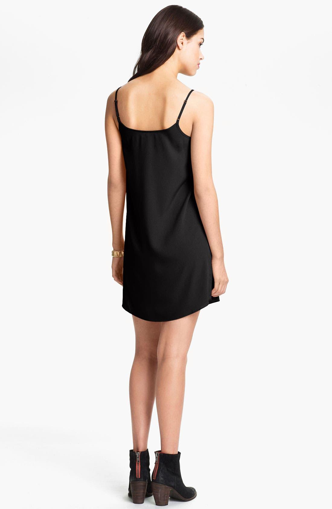 Alternate Image 2  - Frenchi® Slip Dress (Juniors)