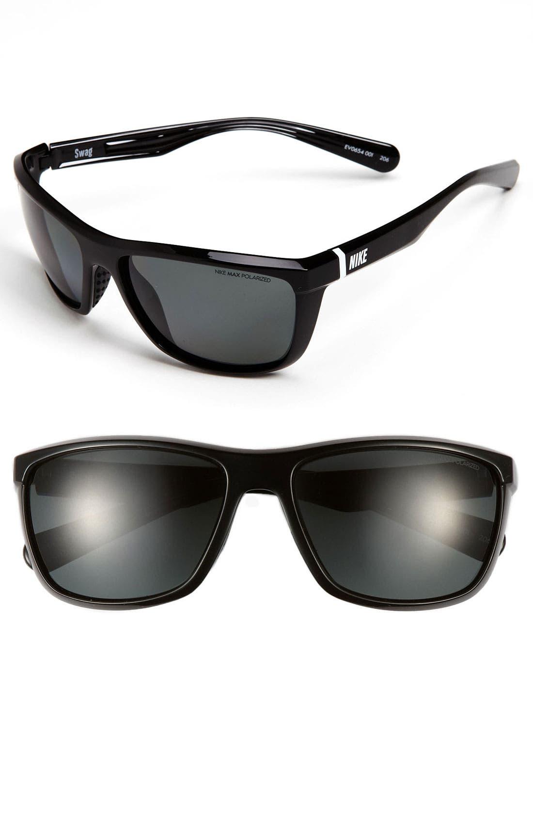 Alternate Image 1 Selected - Nike 'Swag' 60mm Polarized Sunglasses