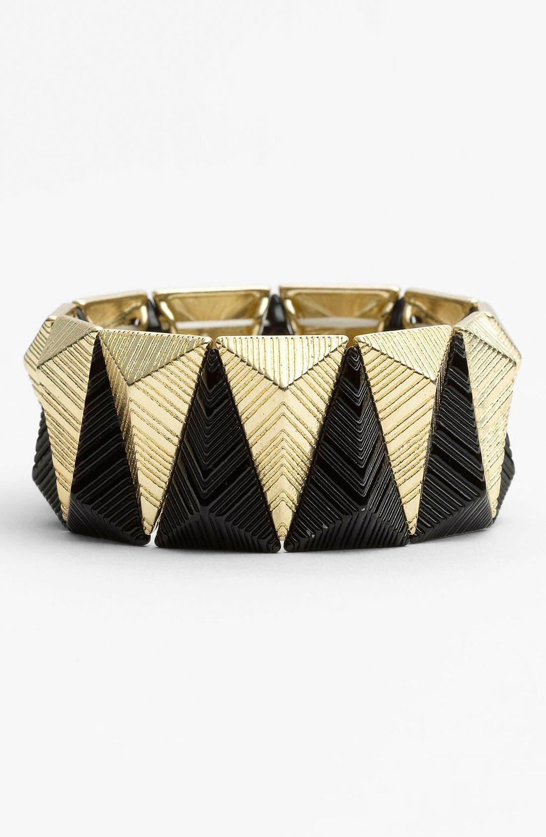 Main Image - Carole Two Tone Pyramid Bracelet