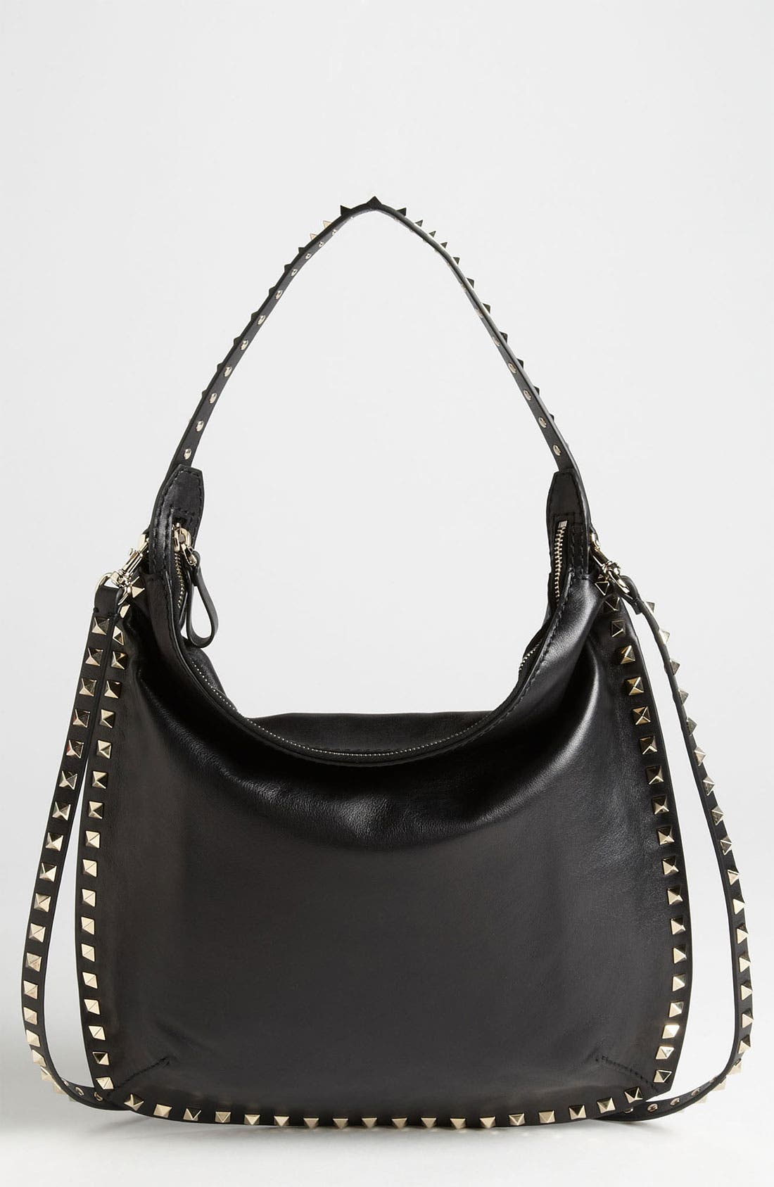Main Image - Valentino 'Small Rockstud' Leather Hobo