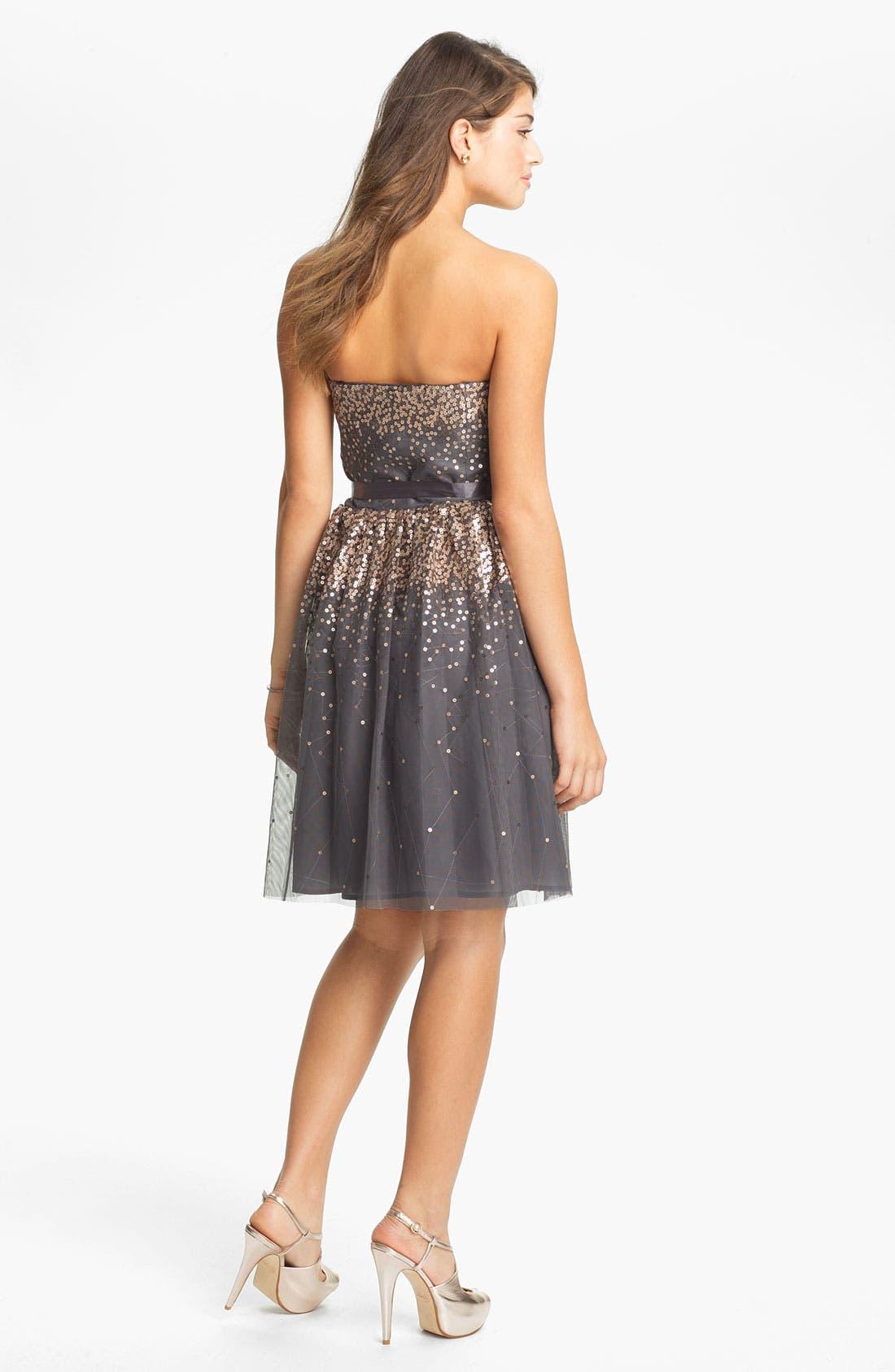 Alternate Image 2  - Eliza J Embellished Tulle Fit & Flare Dress