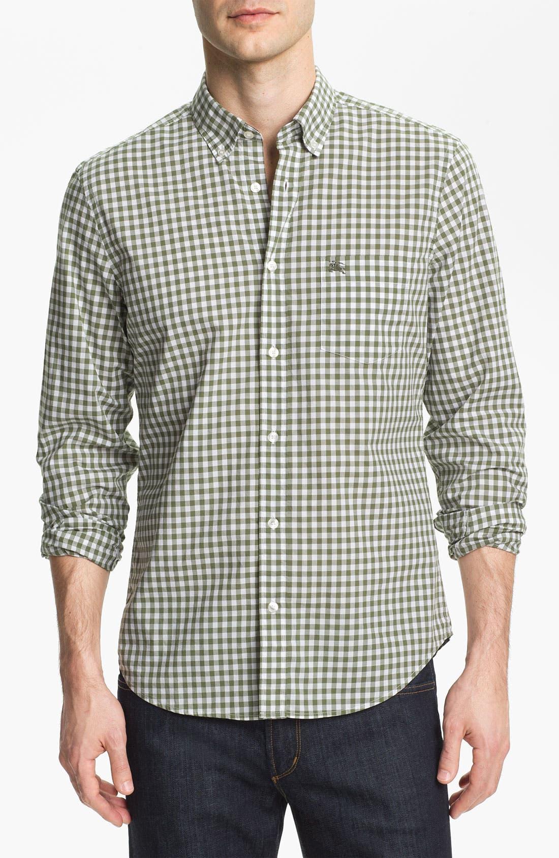 Alternate Image 1 Selected - Burberry Brit Gingham Check Sport Shirt