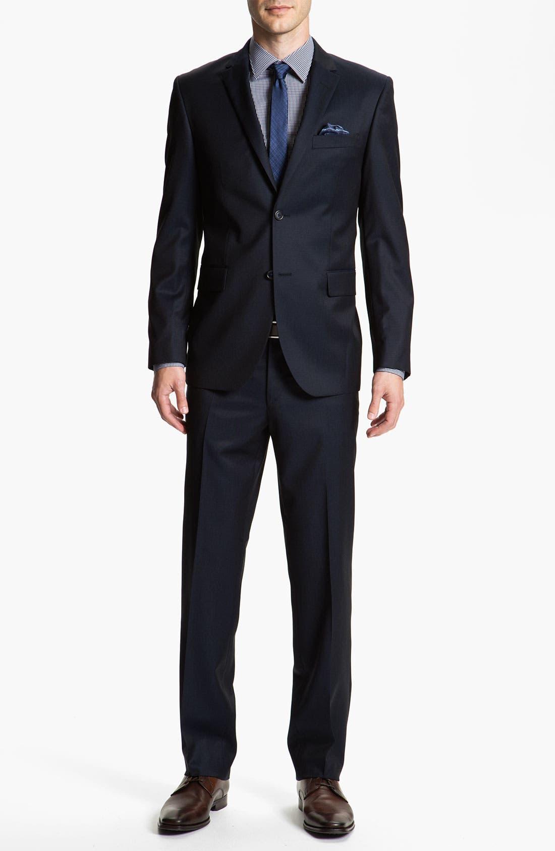 Alternate Image 2  - Sand Trim Fit Wool Suit