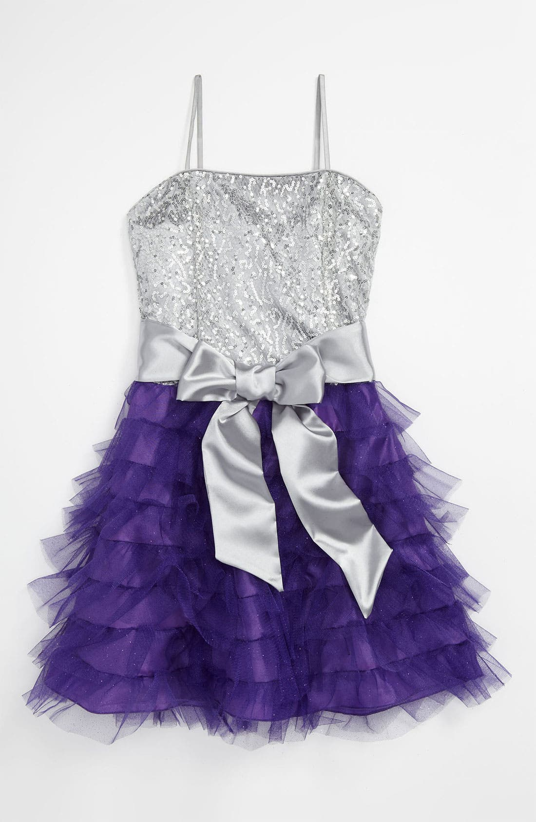 Alternate Image 1 Selected - Un Deux Trois Ruffle Party Dress (Big Girls)