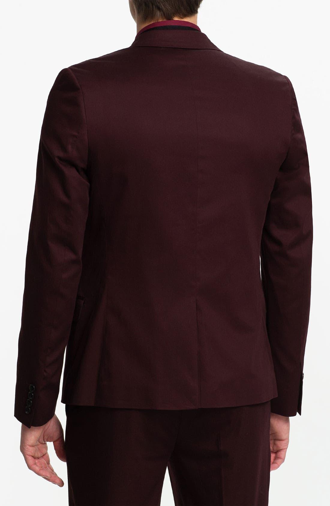 Alternate Image 2  - Topman Skinny Fit Cotton Blazer