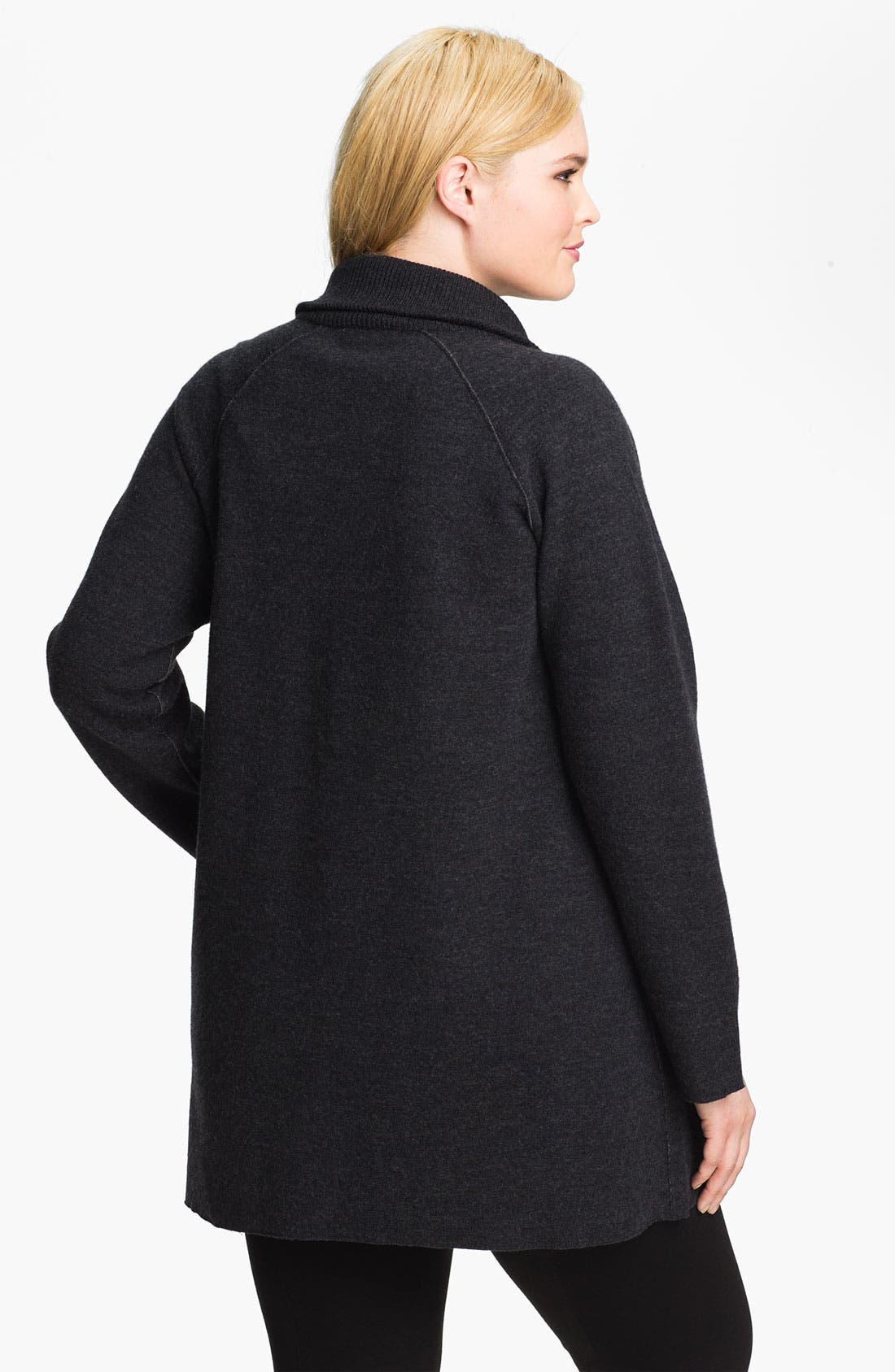 Alternate Image 2  - Eileen Fisher Felted Merino Double Knit Jacket (Plus)