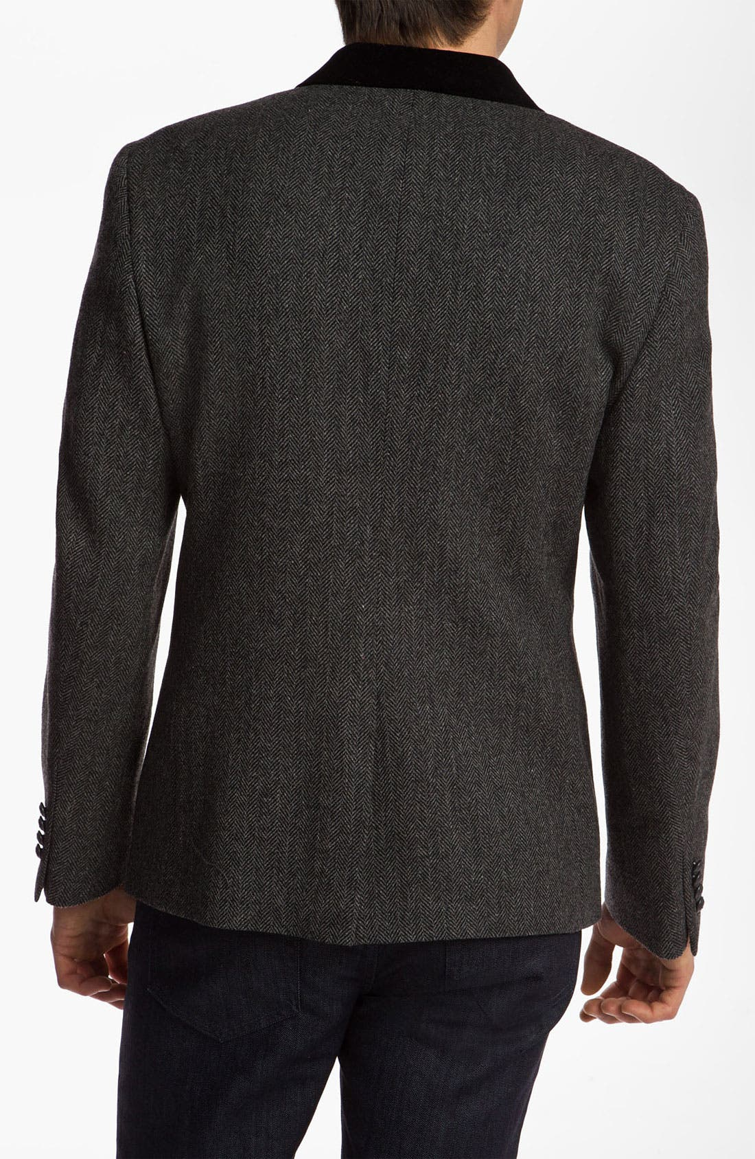 Alternate Image 2  - Dockers® Herringbone Wool Blazer