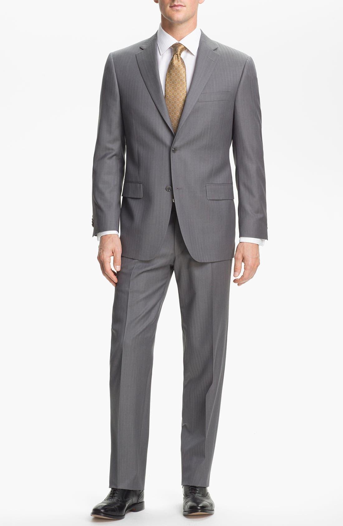 Alternate Image 1 Selected - Hart Schaffner Marx Herringbone Suit