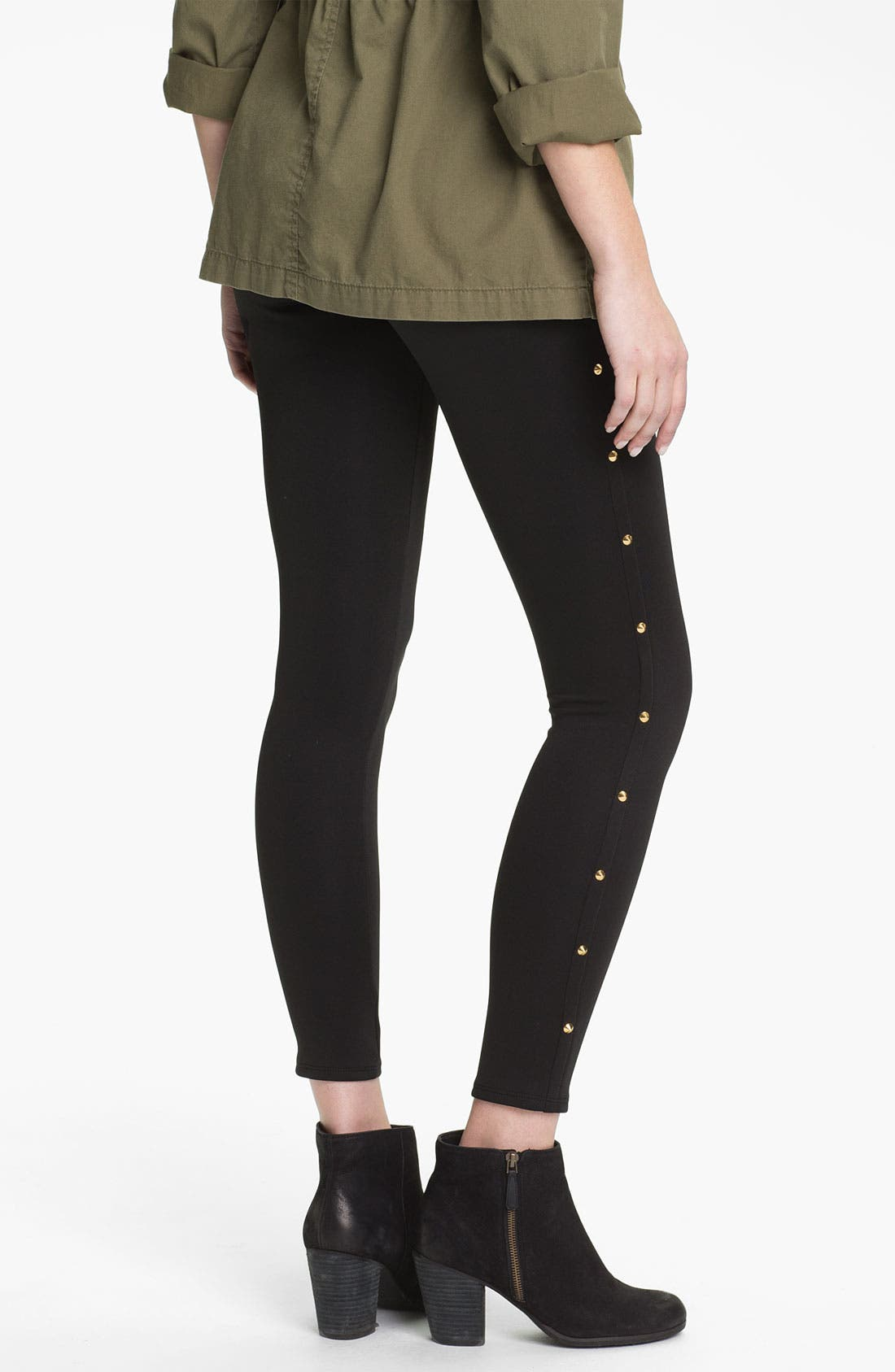 Alternate Image 2  - Soprano Studded Leggings (Juniors)
