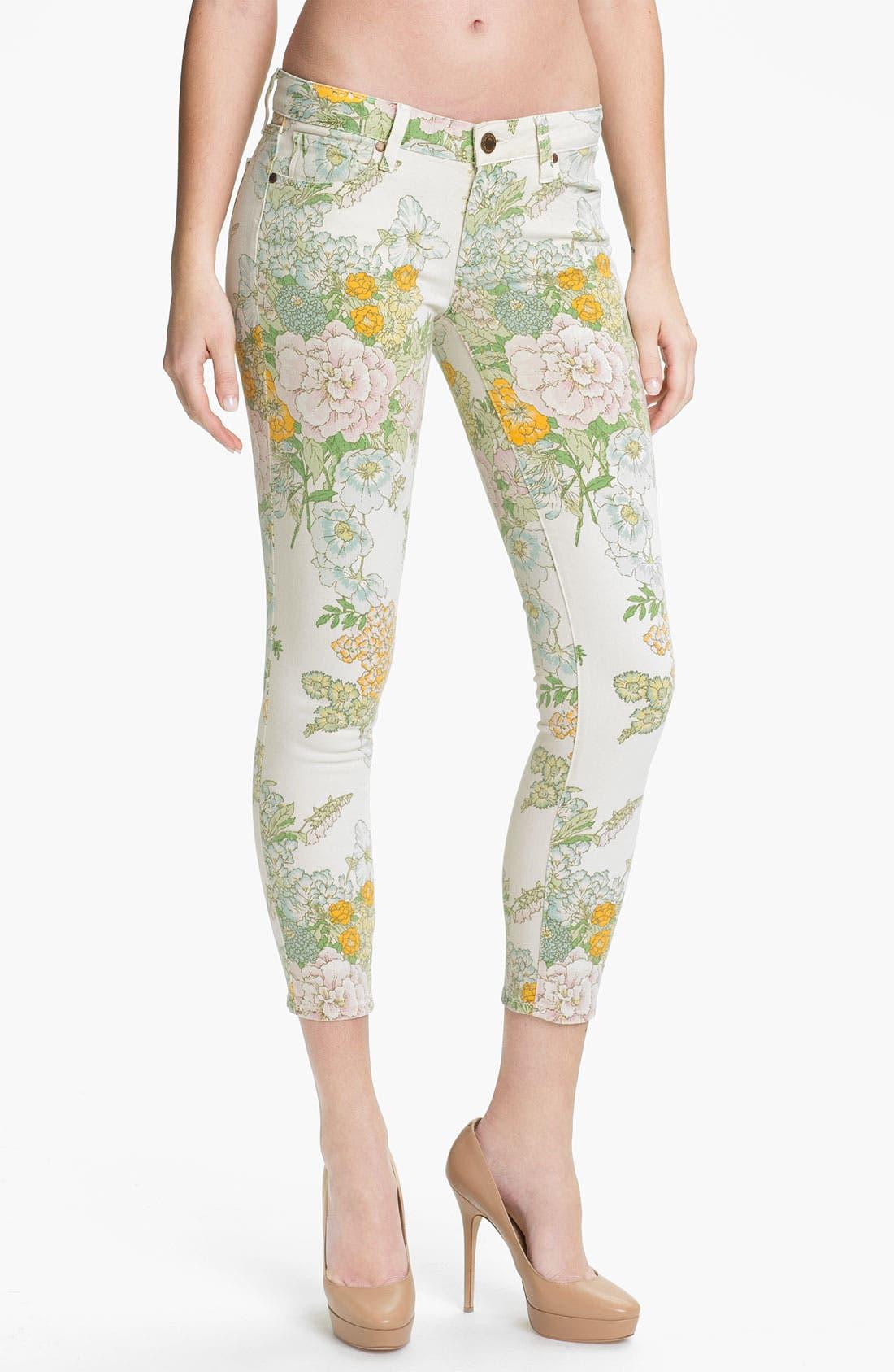 Main Image - Paige Denim 'Verdugo' Print Skinny Jeans (Flea Market Floral)