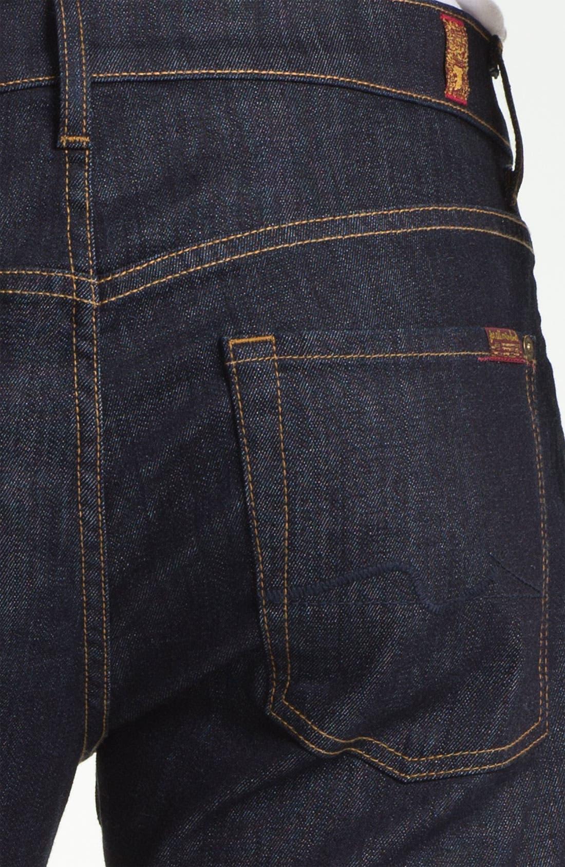 Alternate Image 4  - 7 For All Mankind® 'Carsen' Easy Straight Leg Jeans (Dark Clean)