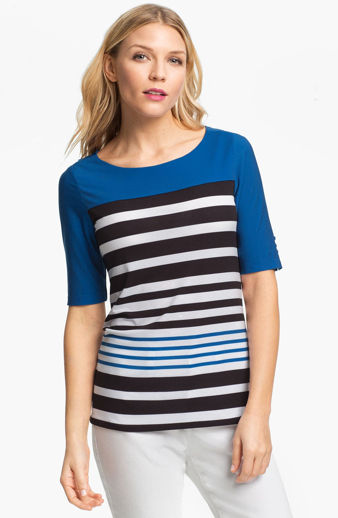Alternate Image 1 Selected - ECI Elbow Sleeve Stripe Tee