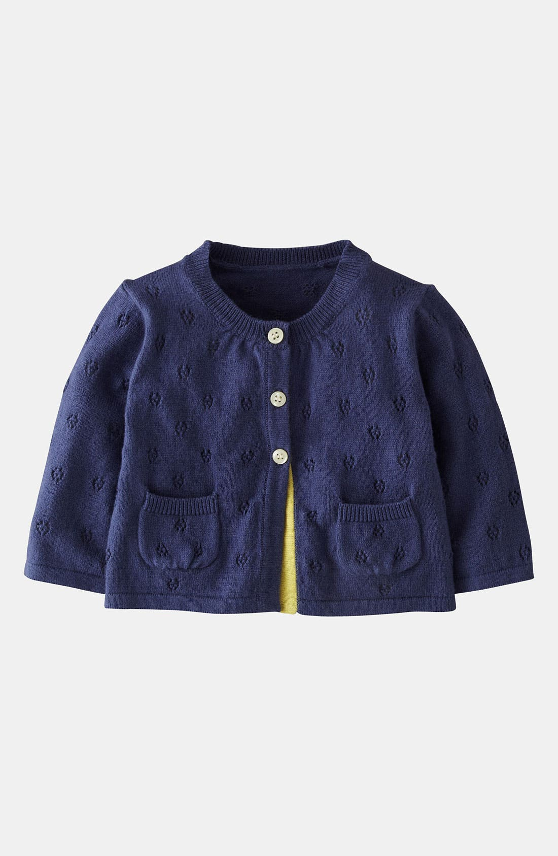 Main Image - Mini Boden Pointelle Cardigan (Baby)