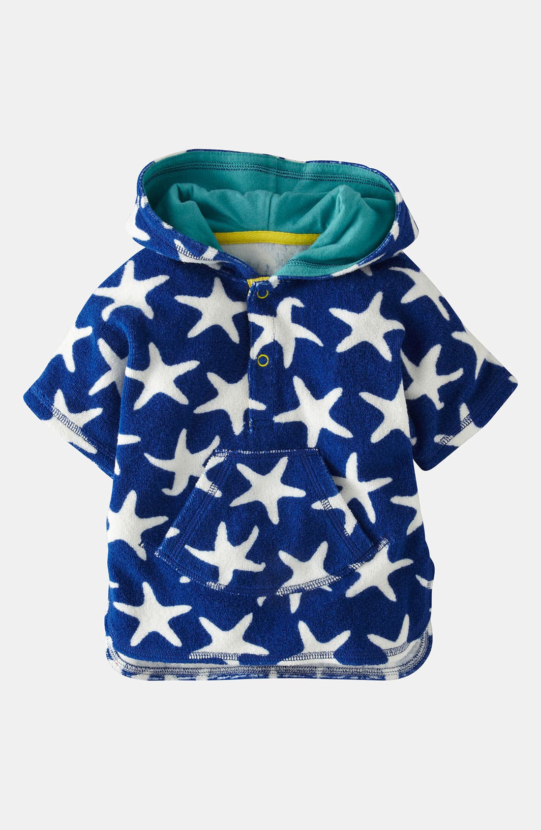 Alternate Image 1 Selected - Mini Boden 'Toweling' Poncho (Baby)