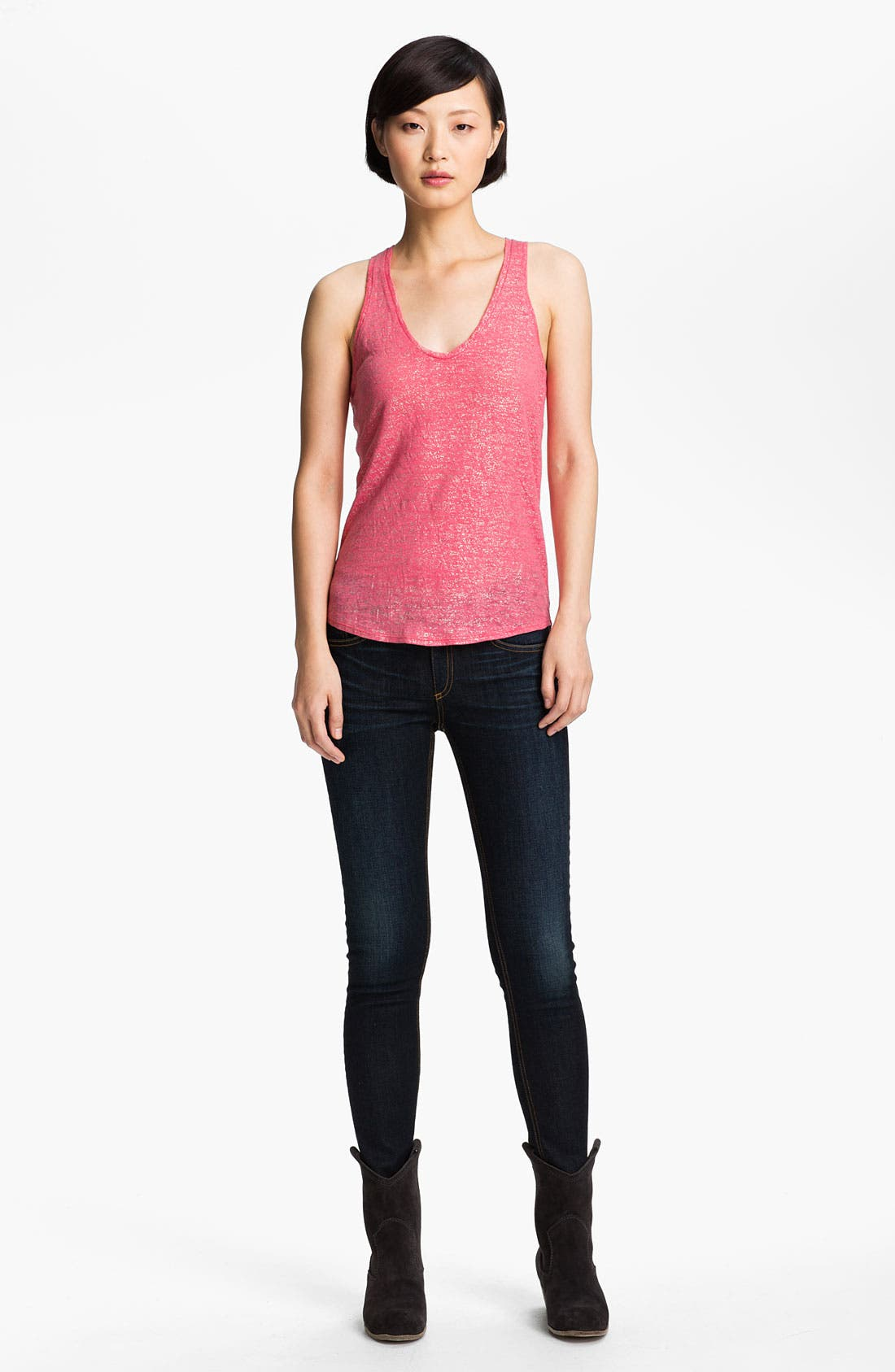Alternate Image 1 Selected - Zadig & Voltaire 'Hilda Lamé' Racerback Tank