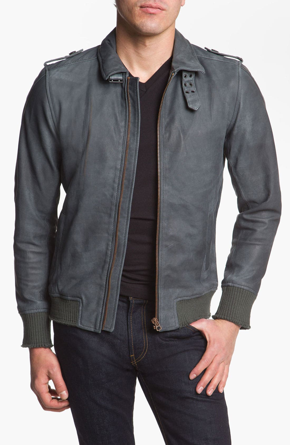 Alternate Image 1 Selected - DIESEL® 'Lacco' Leather Jacket