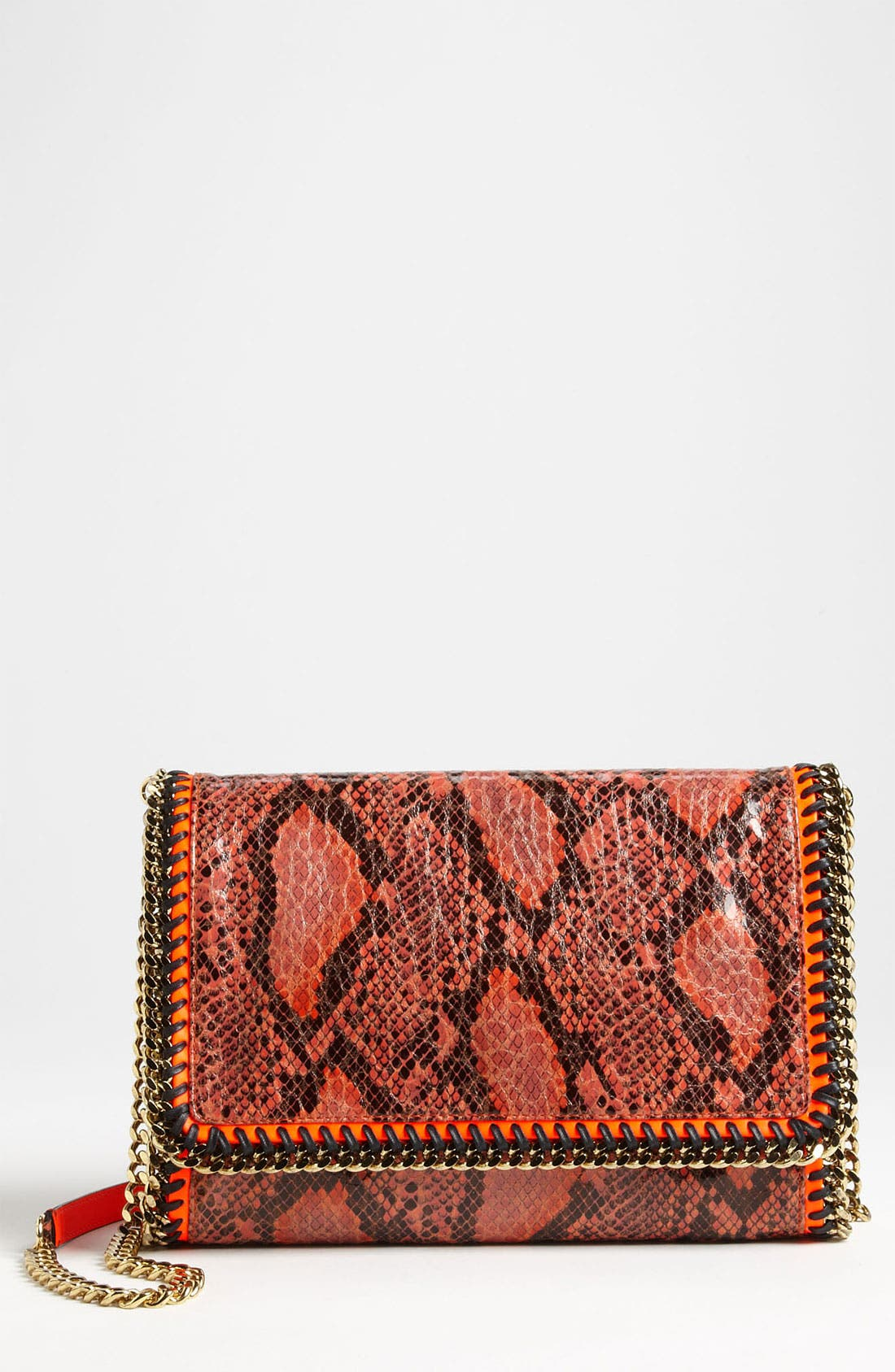 Alternate Image 1 Selected - Stella McCartney 'Falabella' Faux Python Crossbody Bag
