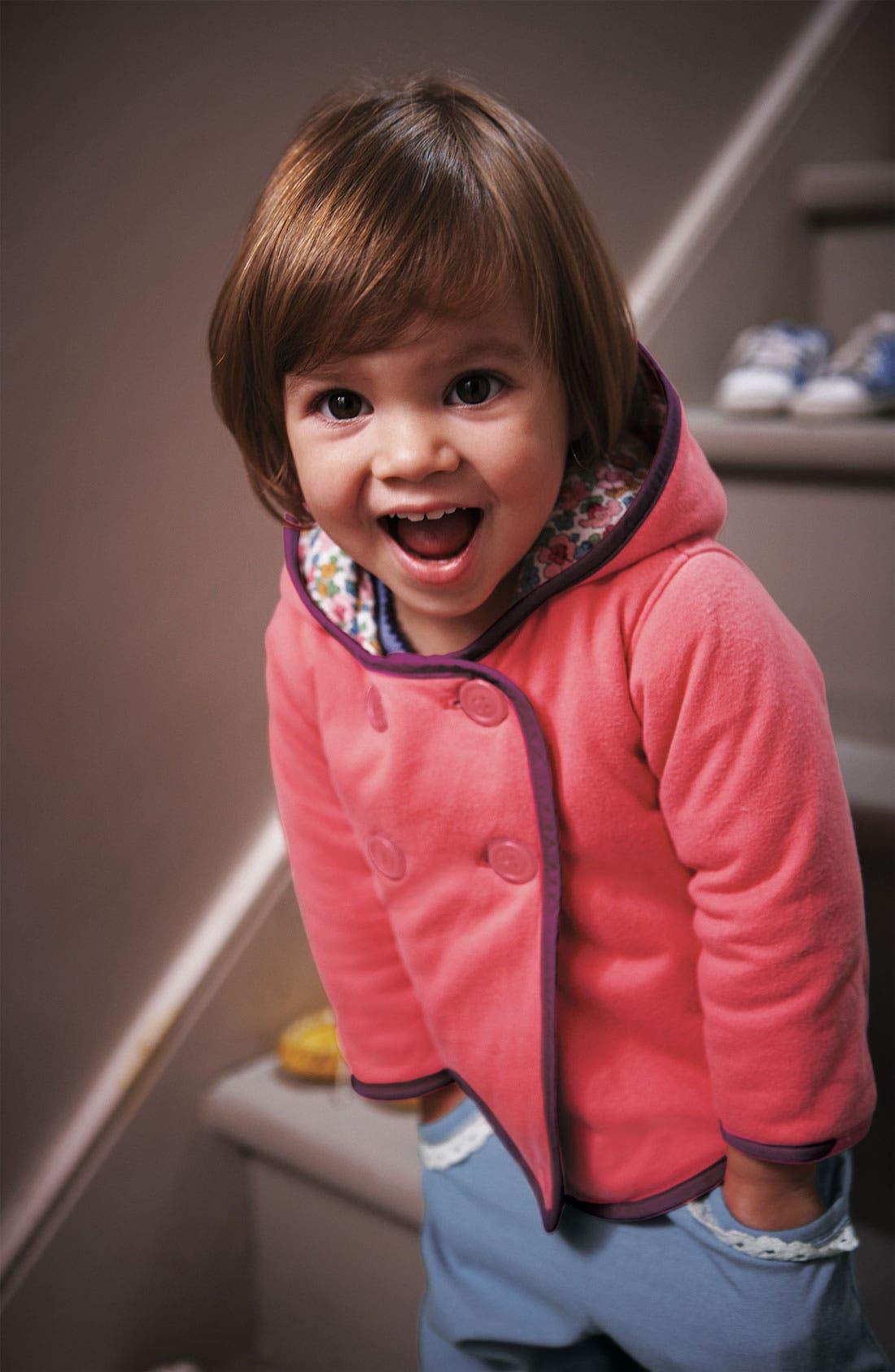 Alternate Image 2  - Mini Boden Jersey Jacket (Infant)
