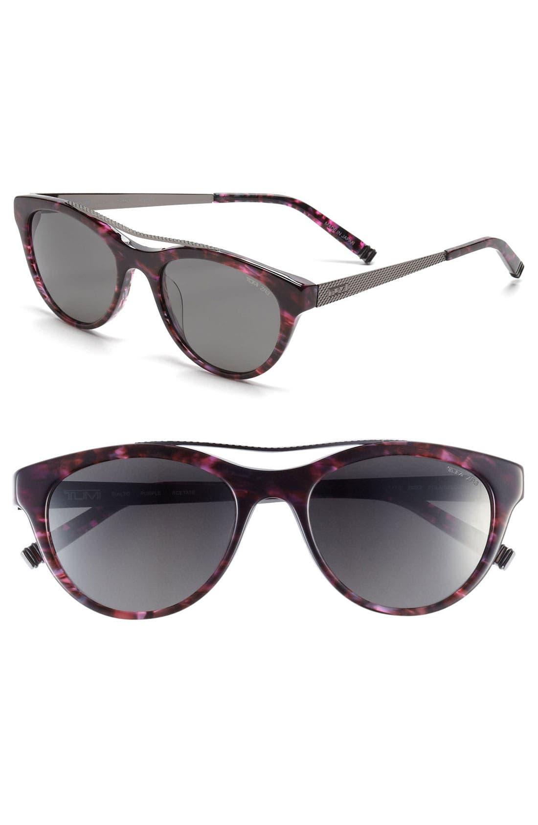 Alternate Image 1 Selected - Tumi 'Rialto' 51mm Polarized Sunglasses