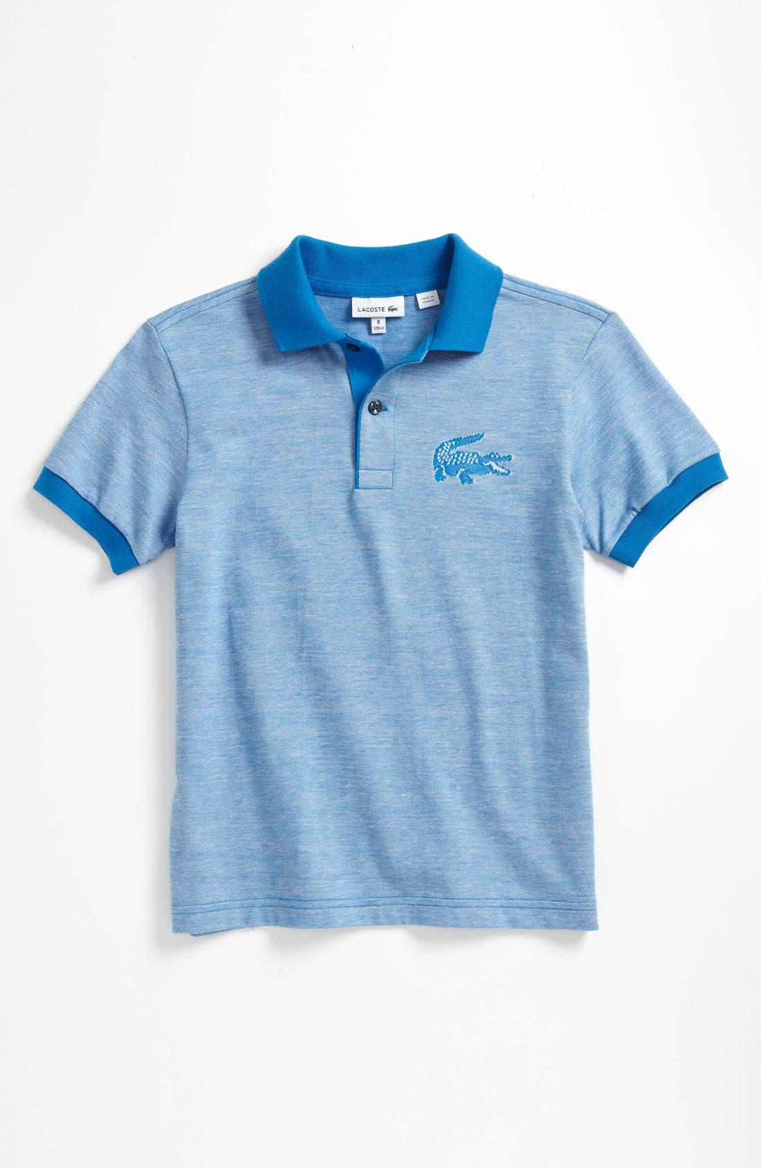 Main Image - Lacoste Heathered Jersey Polo (Little Boys & Big Boys)