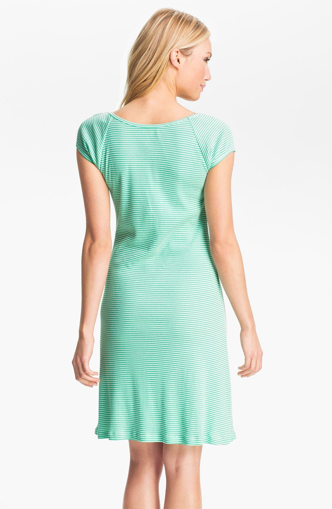 Alternate Image 2  - Lauren Ralph Lauren Stripe Sleep Shirt