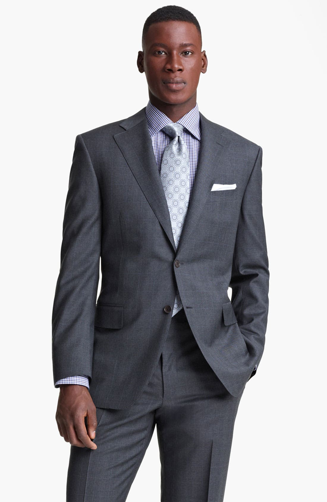 Main Image - Canali Plaid Wool Suit