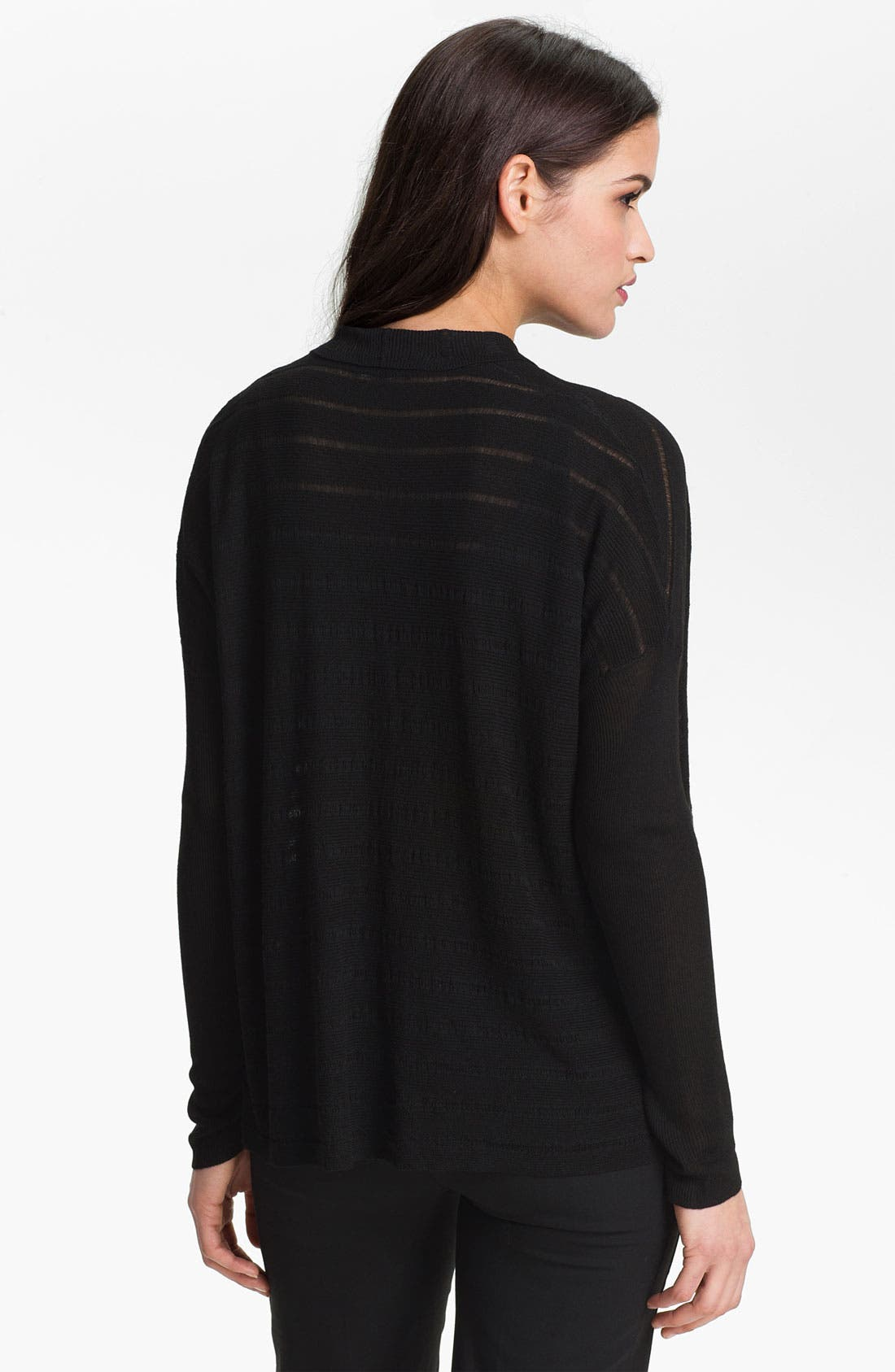 Alternate Image 2  - Eileen Fisher Drape Front Mélange Cardigan (Petite)