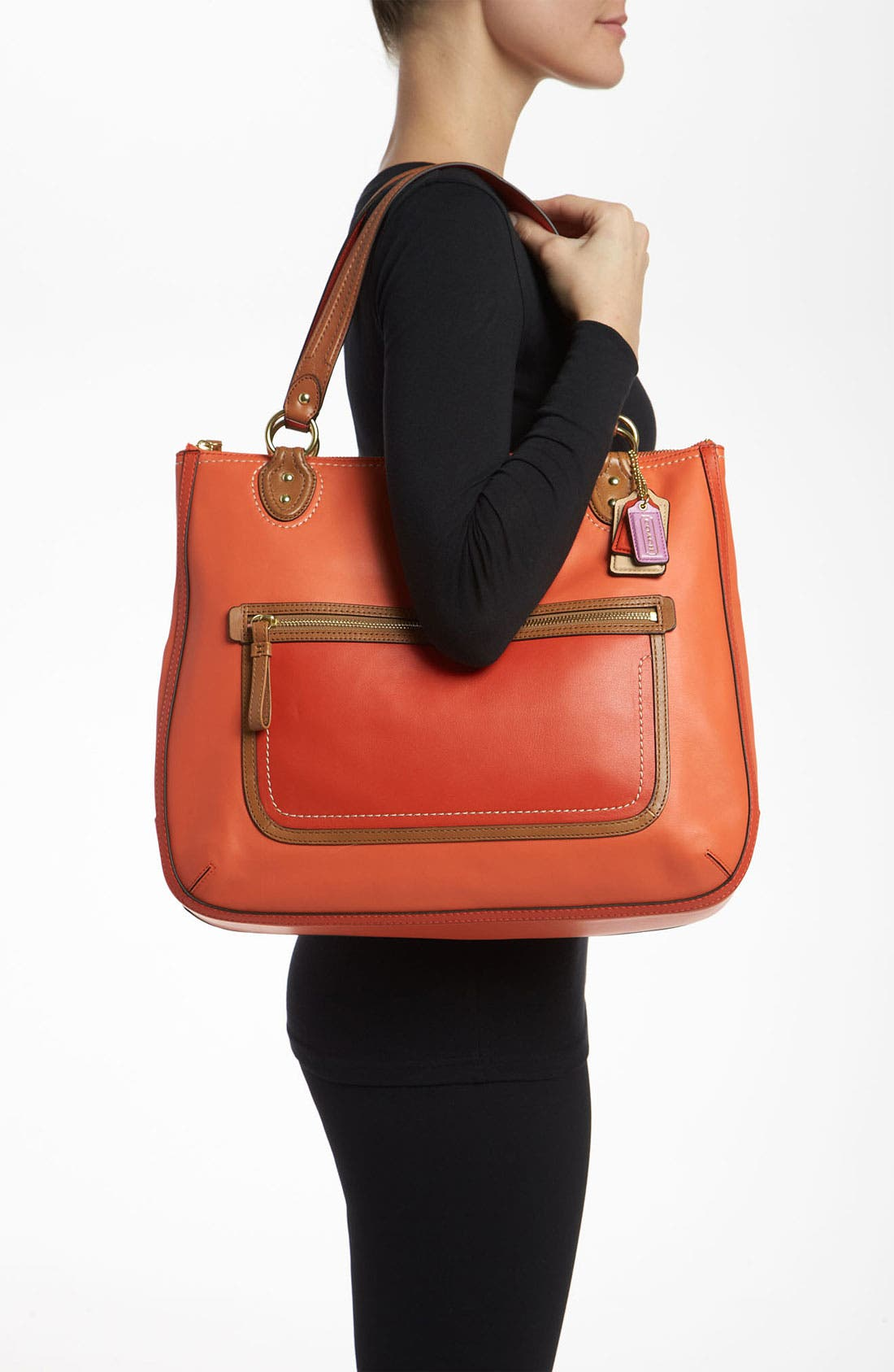 Alternate Image 2  - COACH 'Poppy Colorblock' Leather Tote