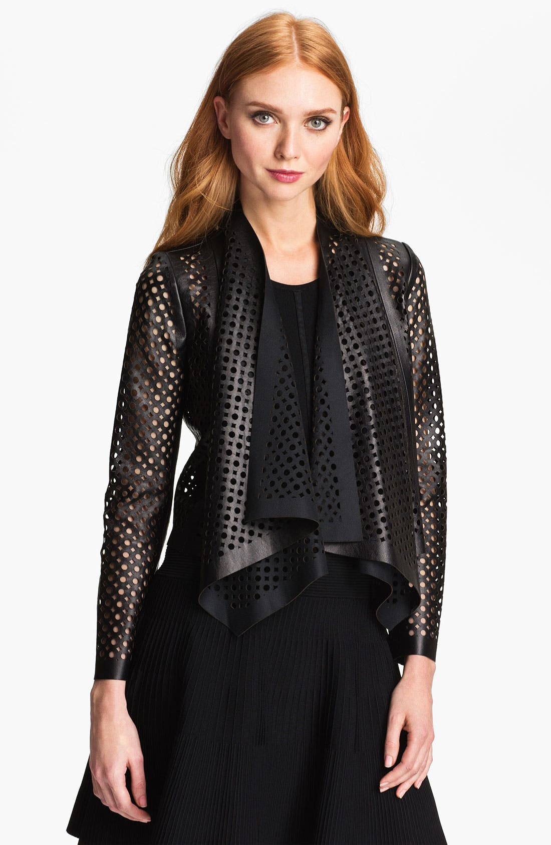 Alternate Image 1 Selected - Milly Perforated Leather Jacket