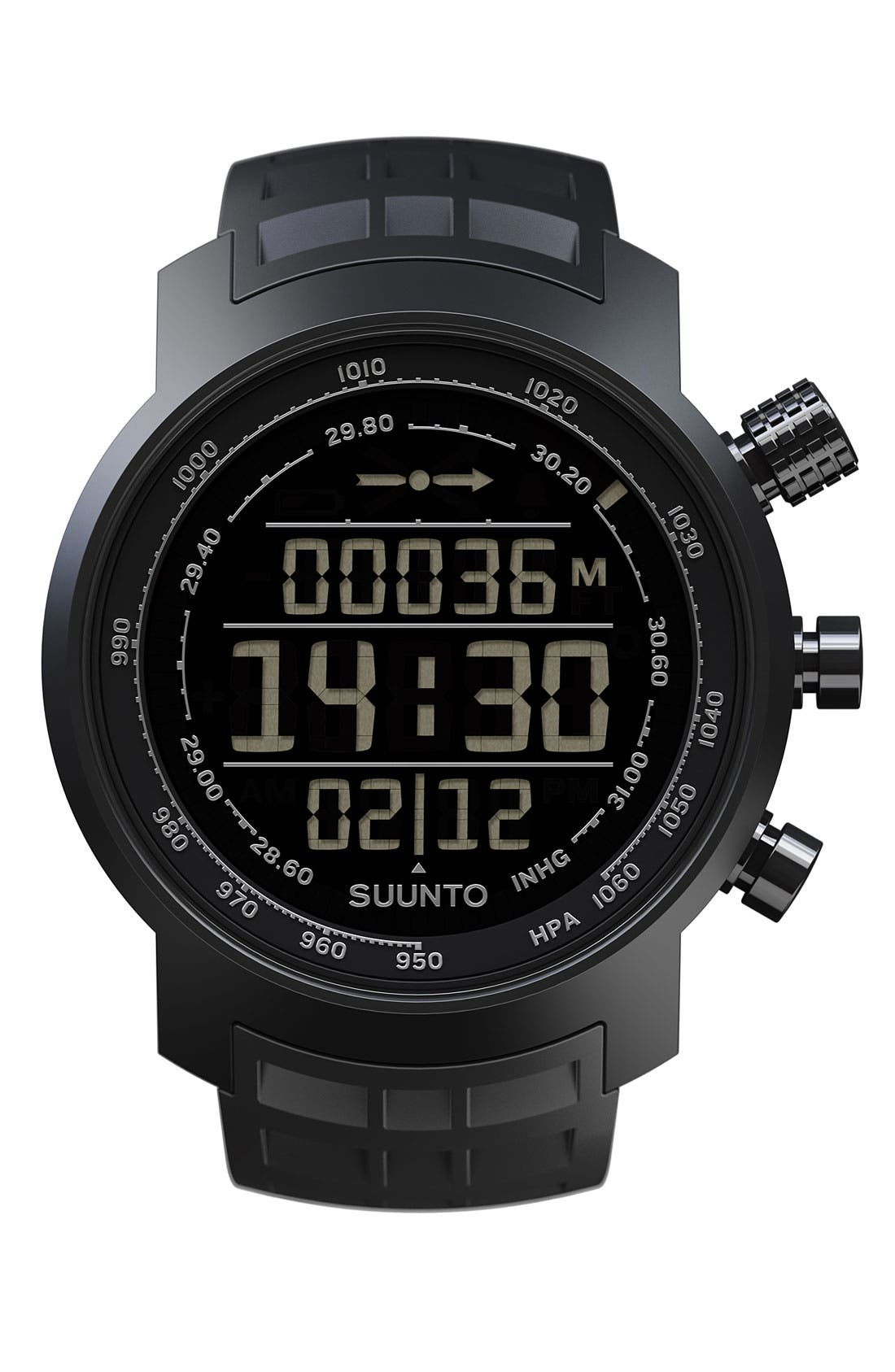 Alternate Image 1 Selected - Suunto 'Terra' Rubber Strap Watch, 44mm