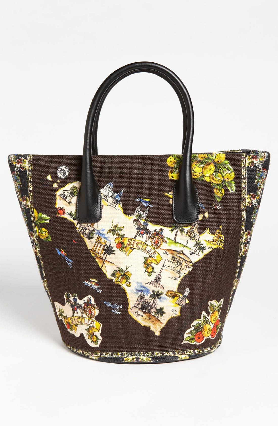Alternate Image 4  - Dolce&Gabbana 'Miss Ingrid - Sicily Medium' Bucket Shopper