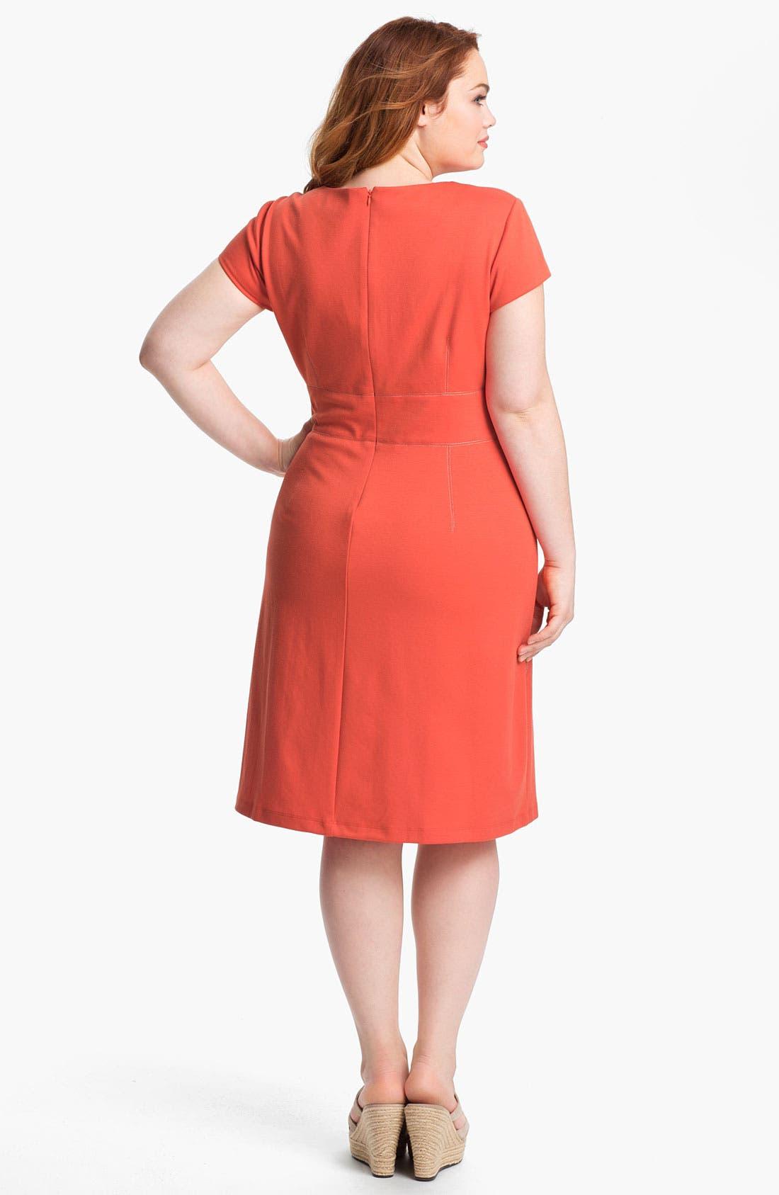 Alternate Image 2  - Donna Ricco Shift Dress (Plus)