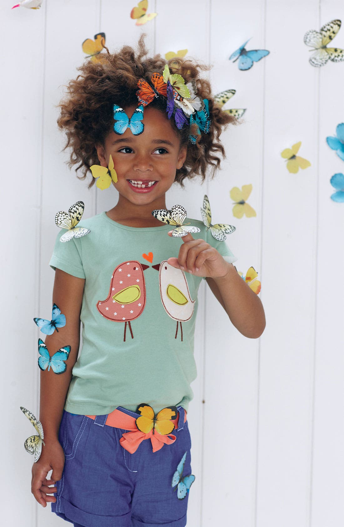 Alternate Image 2  - Mini Boden 'Patchwork' Appliqué Tee (Toddler, Little Girls & Big Girls)
