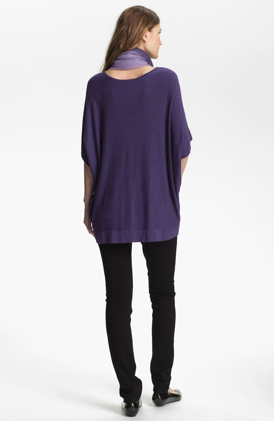 Alternate Image 4  - Eileen Fisher Bateau Neck Boxy Knit Top (Online Exclusive)