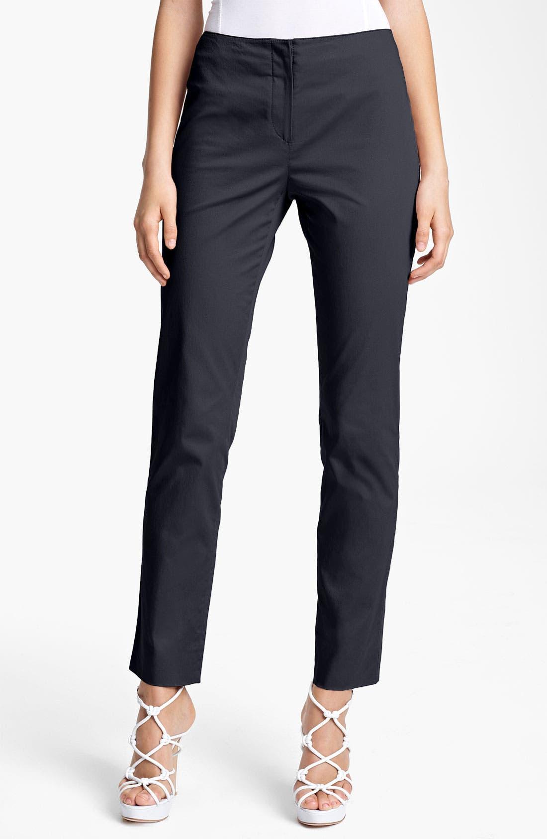 Alternate Image 1 Selected - Armani Collezioni Stretch Cotton Pants
