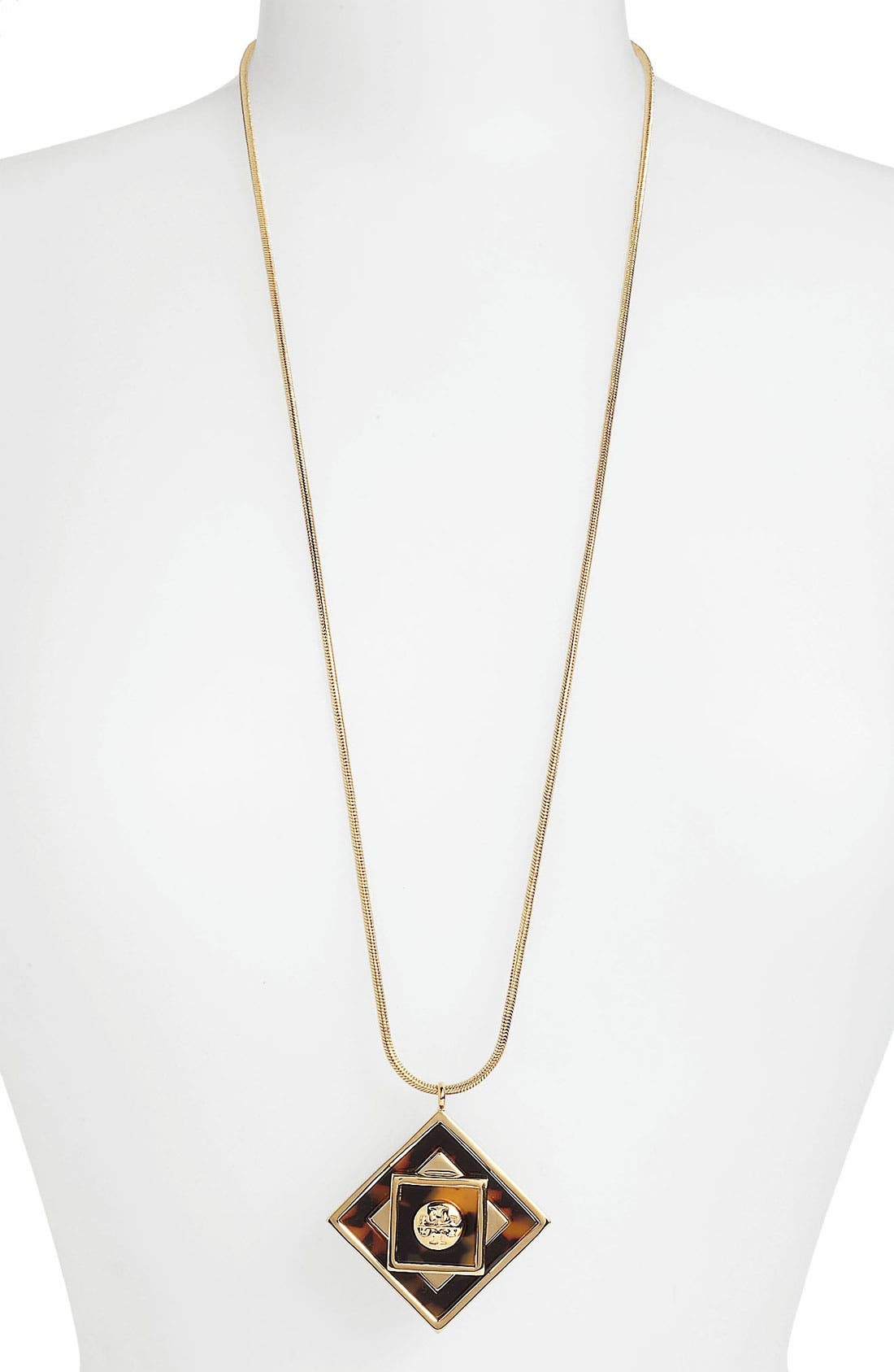Alternate Image 2  - Tory Burch 'Liam' Long Pendant Necklace