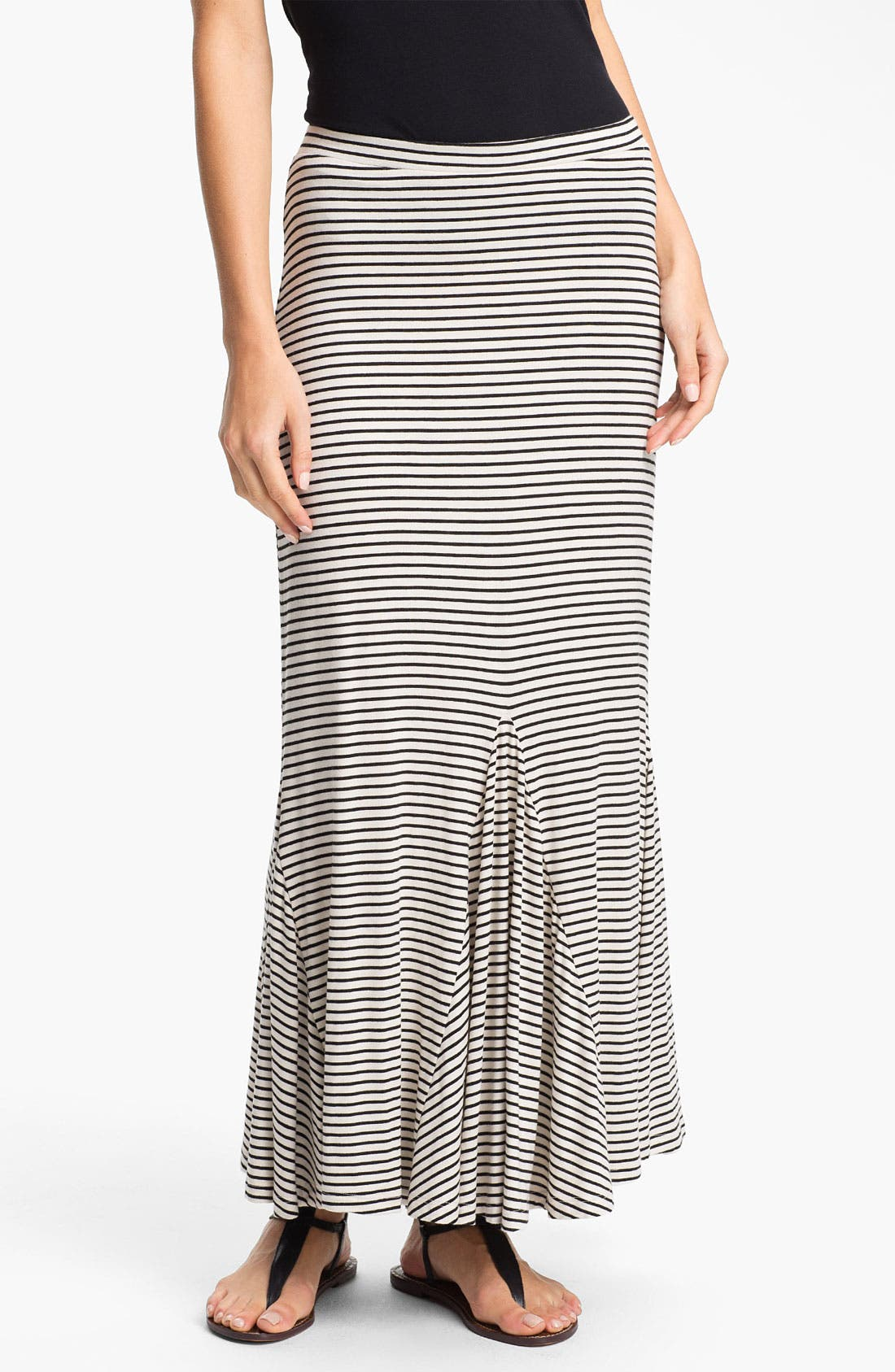 Alternate Image 1 Selected - Pleione Trumpet Hem Maxi Skirt (Regular & Petite)