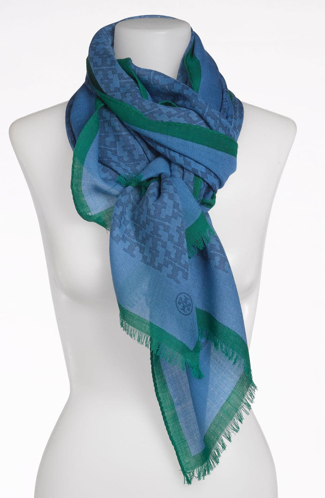 Main Image - Tory Burch 'Allover T Print' Wool Scarf
