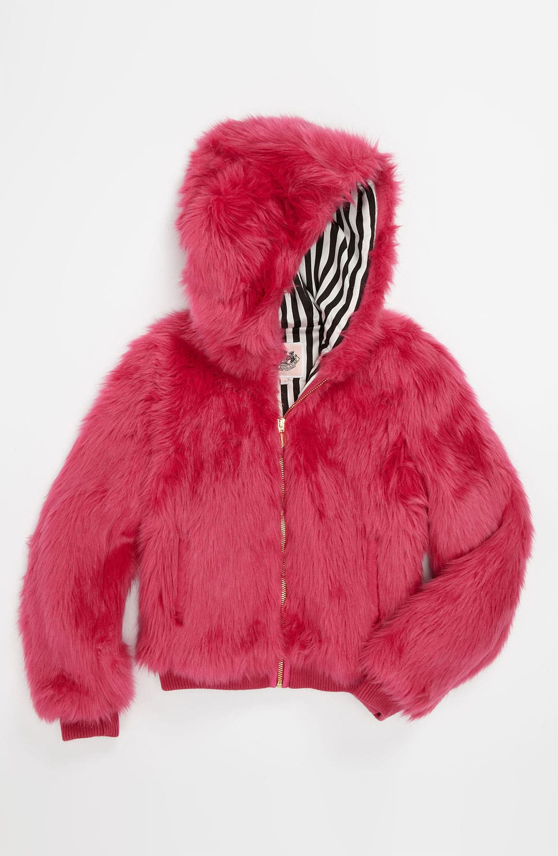 Main Image - Juicy Couture Faux Fur Bomber Jacket (Little Girls & Big Girls)