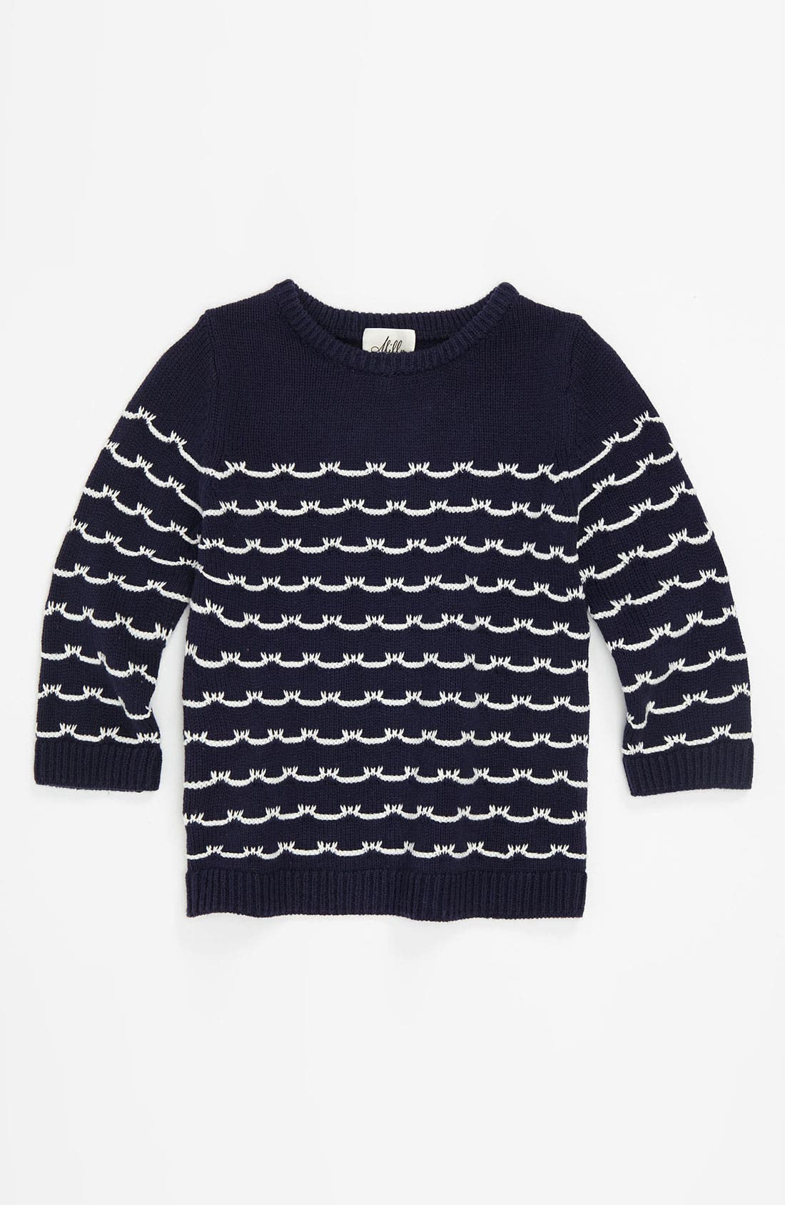 Main Image - Milly Minis 'Sailor Stitch' Sweater (Little Girls & Big Girls)
