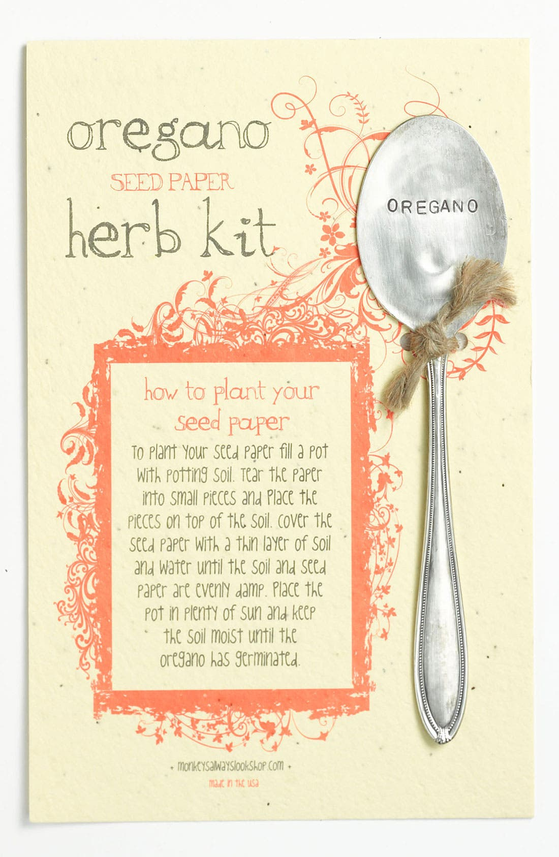 Main Image - Oregano Herb Kit & Garden Marker