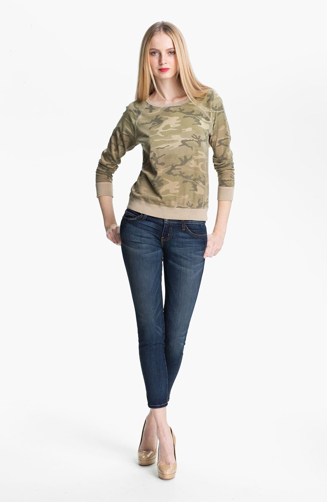 Alternate Image 2  - Current/Elliott 'Letterman' Camo Print Sweatshirt