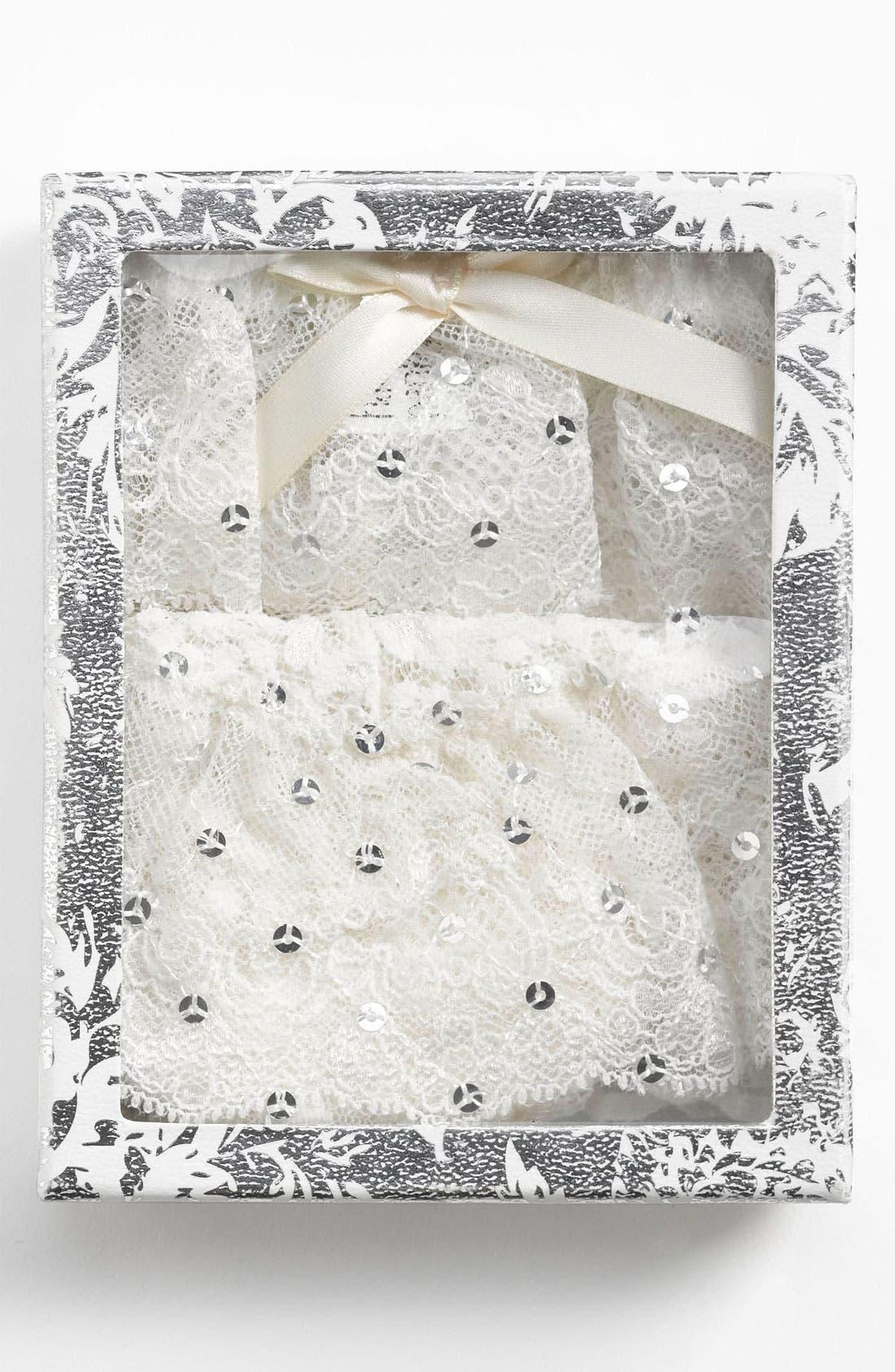 Alternate Image 1 Selected - Hanky Panky Sequin Thong & Garter Set