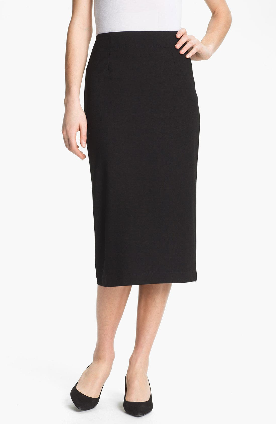 Alternate Image 1 Selected - Eileen Fisher Pull-On Pencil Skirt