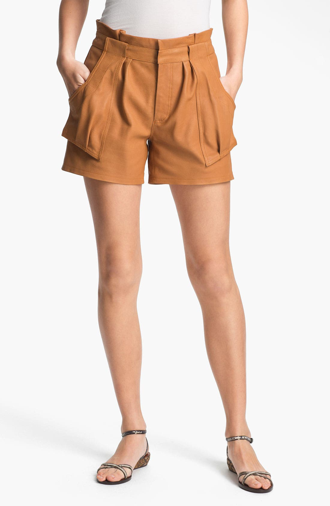 Alternate Image 1 Selected - A.L.C. 'Cash' Leather Shorts