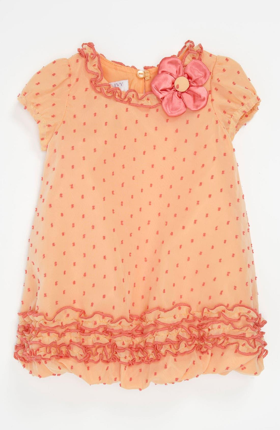 Main Image - Iris & Ivy Chiffon Bubble Dress (Infant)