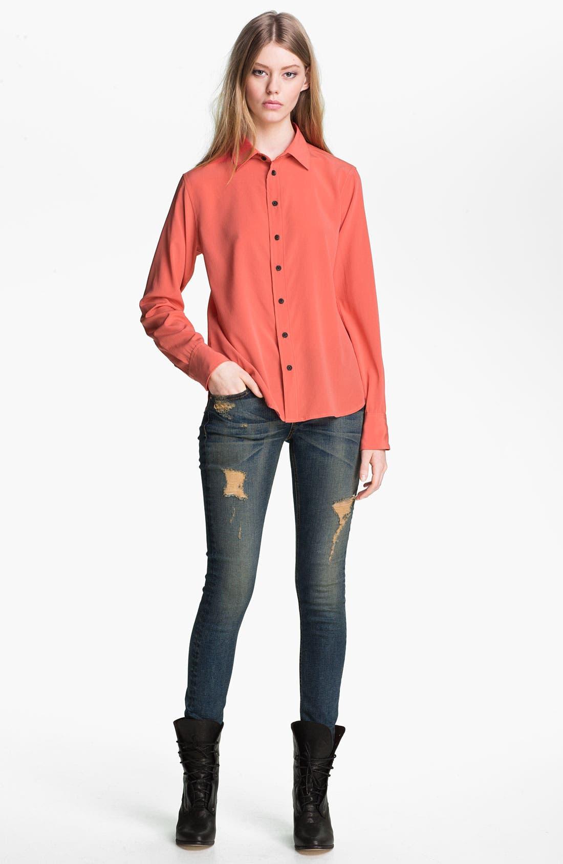Alternate Image 1 Selected - rag & bone '88' Silk Shirt
