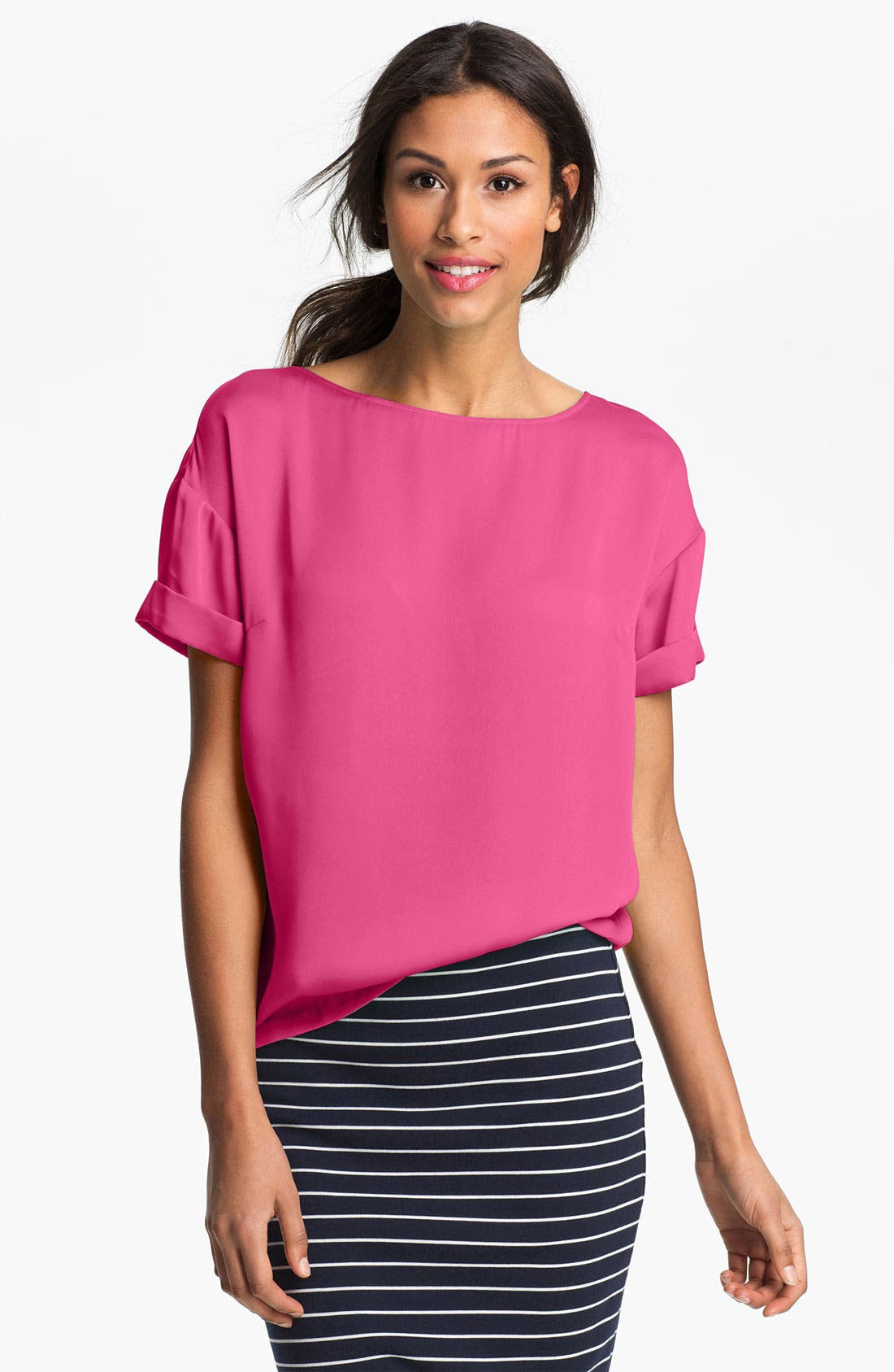 Alternate Image 1 Selected - Vince Camuto Short Sleeve Blouse