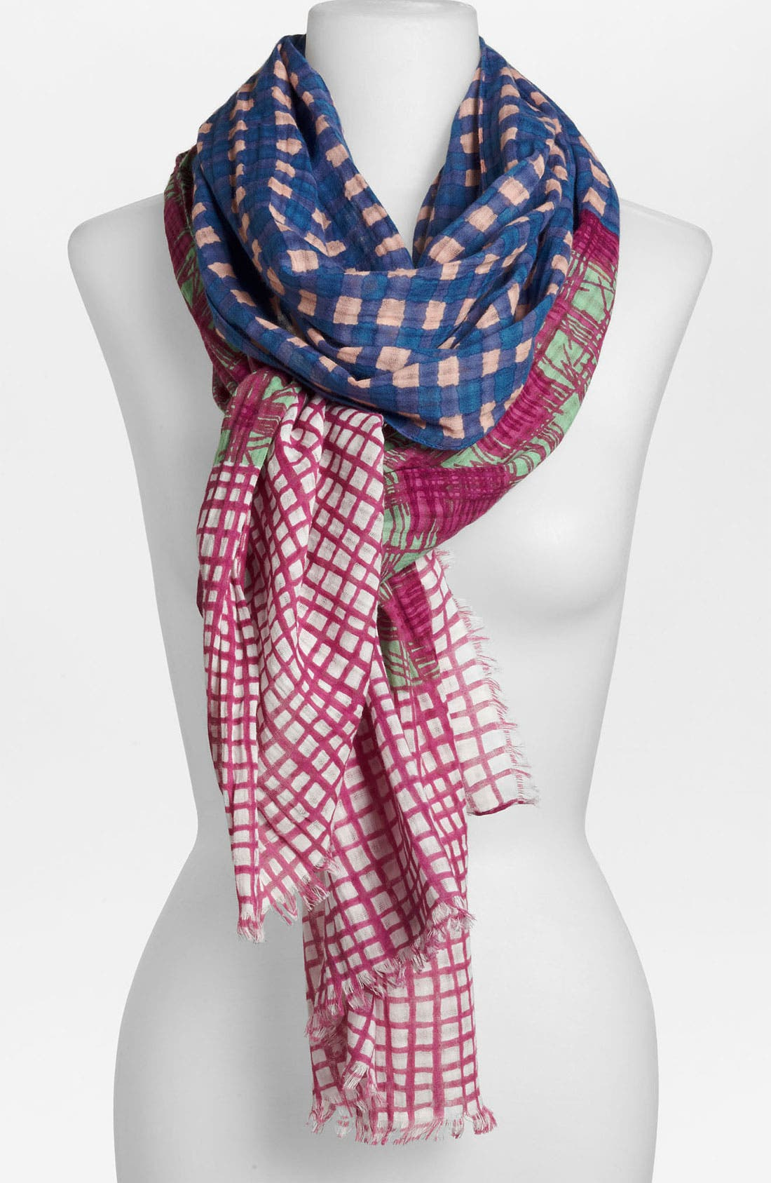 Alternate Image 1 Selected - MARC BY MARC JACOBS Mixed Check Print Scarf